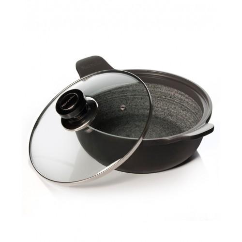 Сковорода гранитная индукционная с подставкой (d=28 см), Noryoku